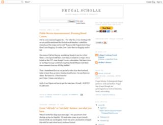 frugalscholar.blogspot.com screenshot