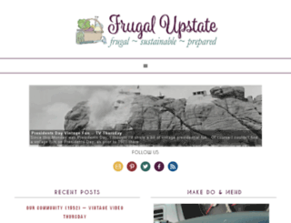 frugalupstate.com screenshot