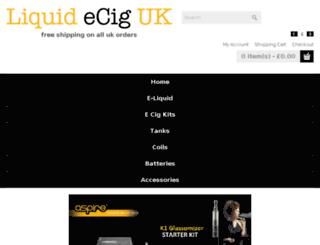 fruitecigs.co.uk screenshot