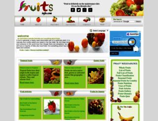 fruitsinfo.com screenshot