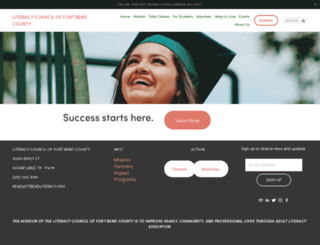 ftbendliteracy.org screenshot