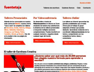 fuentetajaliteraria.com screenshot