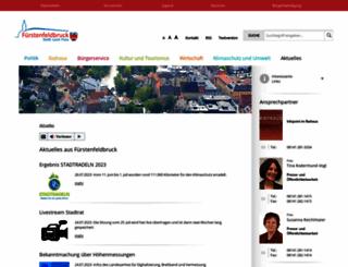 fuerstenfeldbruck.de screenshot