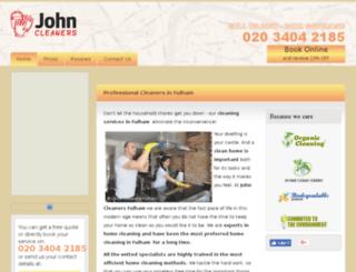 fulham-cleaners.co.uk screenshot