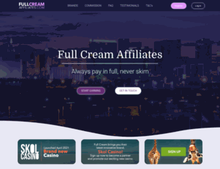 fullcreamaffiliates.com screenshot