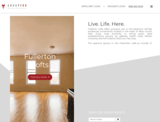 fullertonlofts.groupfox.com screenshot