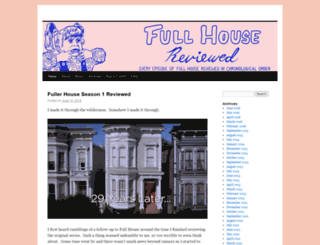 fullhousereviewed.com screenshot