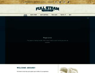 fullsteamcoffee.com screenshot