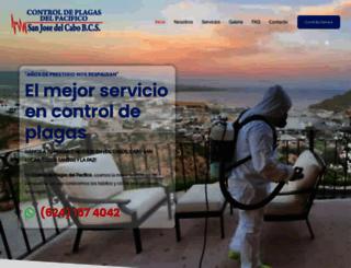 fumigacionesdelpacifico.com screenshot