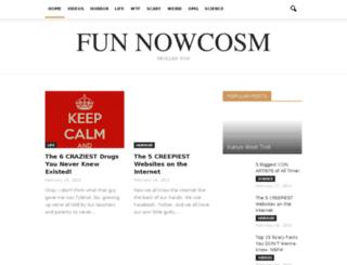 fun.nowcosm.com screenshot
