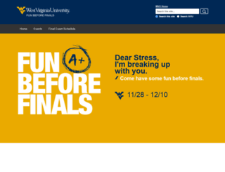 funbeforefinals.wvu.edu screenshot