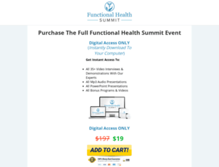 functionalhealthsummit.com screenshot