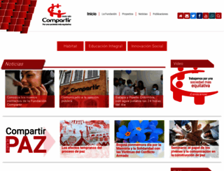 fundacioncompartir.org screenshot