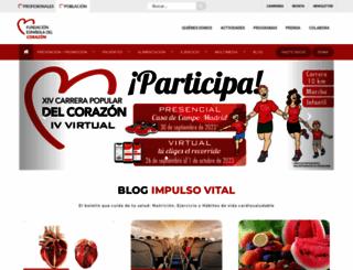 fundaciondelcorazon.com screenshot