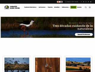 fundacionglobalnature.org screenshot