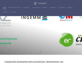fundacioninvdup15q.es screenshot