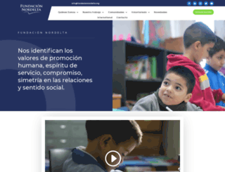 fundacionnordelta.org screenshot