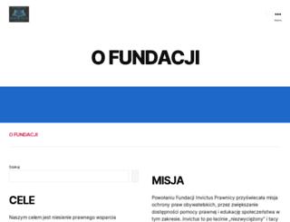 fundacjainvictusprawnicy.pl screenshot