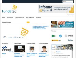 fundetec.es screenshot