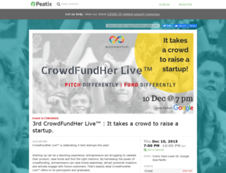 fundlive.peatix.com screenshot