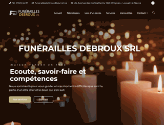 funeraillesdebroux.be screenshot