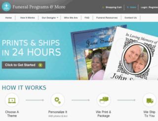 funeral-programs-and-more.com screenshot