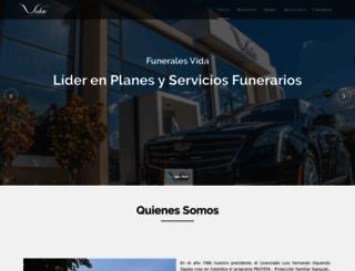 funeralesvida.com screenshot