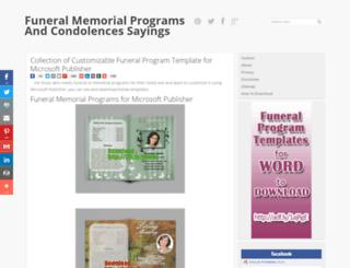 funeralprogramtemplates.blogspot.com screenshot