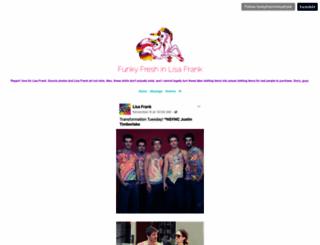 funkyfreshinlisafrank.tumblr.com screenshot