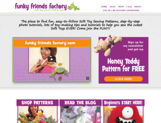 funkyfriendsfactory.com screenshot