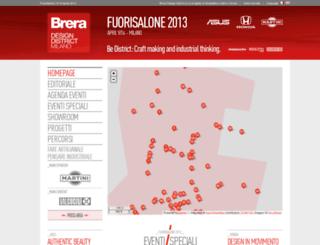 fuorisalone2013.breradesigndistrict.it screenshot