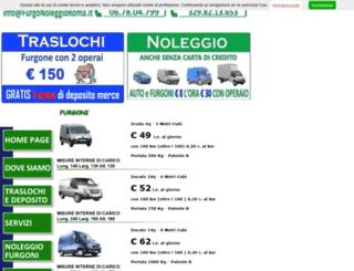 furgonoleggioroma.it screenshot