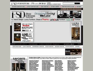 furniturestoresindubai.com screenshot