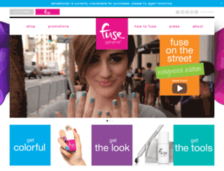 fuse.sensationail.com screenshot