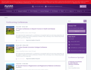fusion-conferences.com screenshot