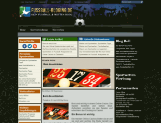 fussball-blogging.de screenshot