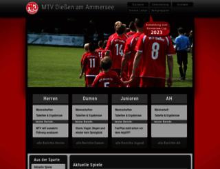 fussball-diessen.de screenshot