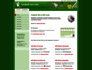 fussball-em-info.de screenshot