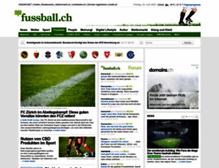 fussball.ch screenshot