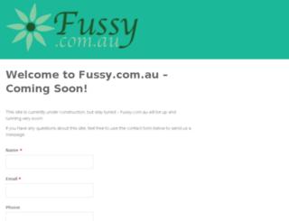 fussy.com.au screenshot