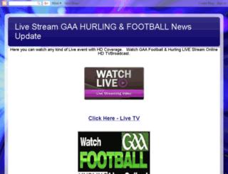 gaahurlingfootballlive.blogspot.com screenshot