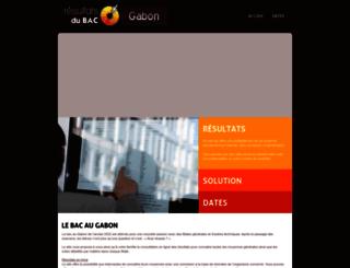 gabon.resultats-bac.info screenshot