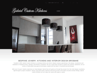 gabrielcustomkitchens.com.au screenshot