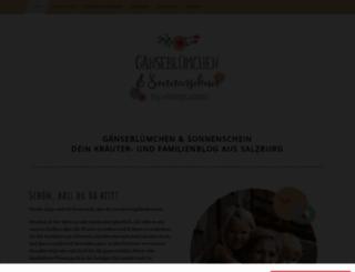gaensebluemchensonnenschein.com screenshot