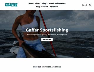 gaffersportfishing.com screenshot