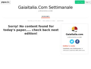 gaiaitaliasettimanale.gaiaitalia.com screenshot