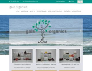 gaiaorganics.co.za screenshot