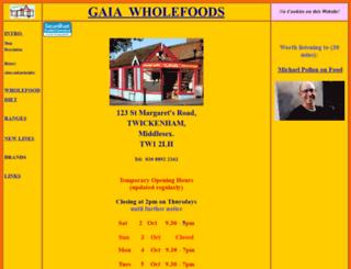 gaiawholefoods.co.uk screenshot