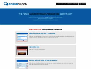 gaigoilonhkhanh.forumvi.com screenshot
