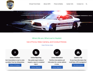 gainesvillepd.org screenshot